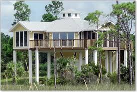 Piling  pier  stilt houses hurricane  amp  coastal home plansHurricane proof elevated piling  stilt  home built  ft above the ground on