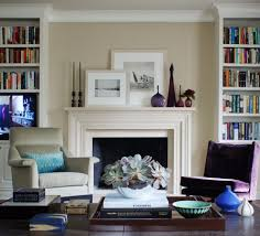 Living Room With Bookcase Houzz Fireplace Mantels Living Room Traditional With Beige Walls