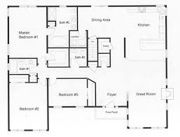 floor plans: four modular sections make the expansive open floor plan possible the huge master bedroom includes
