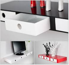 wall shelves uk x: high gloss floating wall shelves cd book display with inside drawers ebay