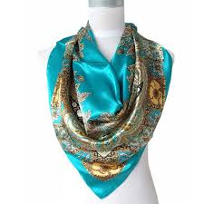 <b>2017 Hot</b> Sale Satin Square Silk Scarf Printed For Ladies,New ...