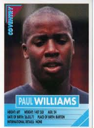 COVENTRY CITY - Paul Williams #82 PANINI Super Players 96 English Premiership Football Sticker - coventry-city-paul-williams-82-panini-super-players-96-english-premiership-football-sticker-46328-p
