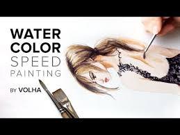 Как нарисовать девушку в кружевном платье <b>акварелью</b> - YouTube