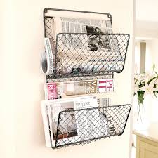 magazine rack wall mount: wall mounted chicken wire letter uamp magazine store holder cm amazoncouk kitchen uamp home home office pinterest wire home and chicken