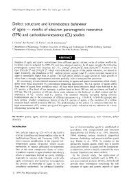 Defect structure and luminescence behaviour of <b>agate</b> results of ...