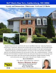 townhouse for hawk run terr gaithersburg md flyer hawk run front