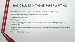 lesson english basic rules in theme paper writing use the 3 use