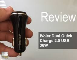 iVoler Dual Quick Charge 2.0 USB 36W Car Charger for Samsung ...