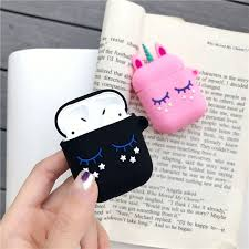 3D Cute Case Airpods Earphone <b>Soft Silicone Earphone</b> Cover ...