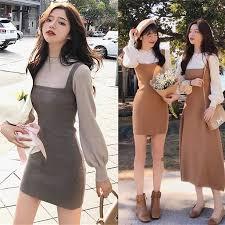 <b>2019</b> New Korea Fashion Women <b>High</b> Neck Fake <b>two piece</b> knitted ...
