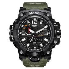 SMAEL <b>Military</b> 50m Waterproof Wristwatch <b>LED</b> Quartz Clock Sport ...