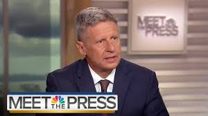 gary johnson on his long shot third party candidacy full gary johnson on his long shot third party candidacy full interview meet the press nbc news