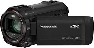 <b>Panasonic HC</b>-VX870EB-<b>K 4K</b> Ultra HD Camcorder - Black: Amazon ...