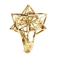 framework star diamond gold ring