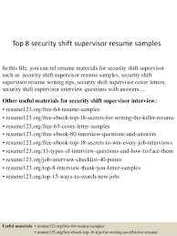 top  security shift supervisor resume samplestop  security shift supervisor resume samples in this file  you can ref resume materials
