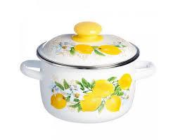 <b>Кастрюля эмалированная 2.0л</b> Лимон С-1610АП4/6ДР - купить во ...