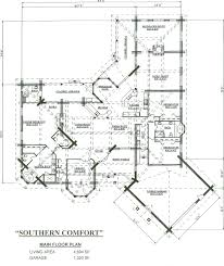 Log Home Floor Plan greater than square feet  sq ft