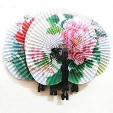 <b>3Pcs Chinese</b> Oriental Floral <b>Paper</b> Hand Fans Wedding Table ...