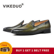 [BUY 1 GET 1 FREE] <b>VIKEDUO</b> Luxury <b>Loafers Shoes</b> Men Genuine ...