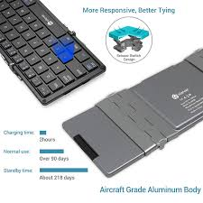 iClever BoostType BK08 <b>Portable</b> Tri-<b>folding</b> Bluetooth <b>Keyboard</b> ...