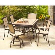 the hampton bay westbury sling high dining grouted porcelain tile top dining patio set comes with multi step premium frame finish this features cast header alexandria balcony set high quality patio furniture