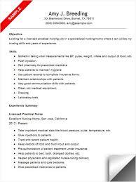 download licensed practical nurse resume template sample lpn resume objective
