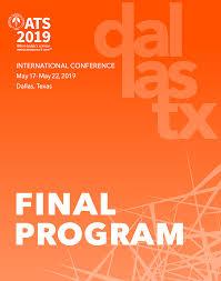 ATS 2019 Virtual Final Program Output April 29 2019