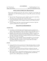 social media manager resume social media manager resume samples social media marketing resume sample