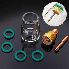 49pcs set durable tig welding torch stubby tig gas lens pyrex glass cup kit for wp 17 18 26 mayitr accessories