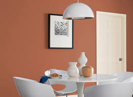 color apricot kitchen wall colors dining room in clay pot glidden cil orange dining room claypot