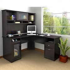 full size of desk attractive l shape computer desks wood construction espresso finish built in amazing black glass office