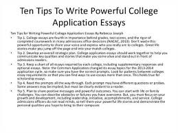 College application essay for rutgers admission