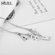 <b>SMJEL KPOP</b> Army Letter Necklaces Men Women Fashion <b>Boys</b> ...