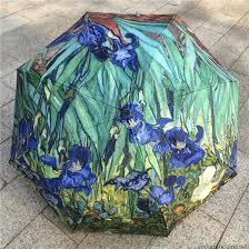 """Résultat de recherche d'images pour """"les iris de van gogh sur parapluie"""""""