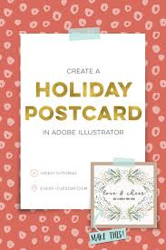 17 best ideas about holiday postcards christmas create a holiday postcard in adobe illustrator