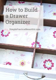 bathroom drawer organization: how to build your own bathroom drawer organizer
