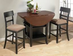 Tall Dining Room Sets Casual Kitchen Table For Two Person Featuring Rustic Brown Round