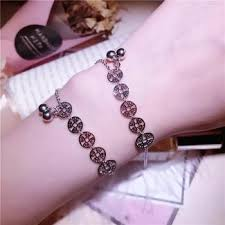 Simple <b>S925 Sterling Silver Copper</b> Coin Bell Chain Bracelet ...