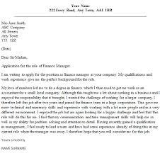 finance manager cover letter sample   lettercv comfinance manager cover letter