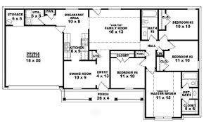 Inside  Bedroom Bedroom One Story Ranch House Plans  bedroom