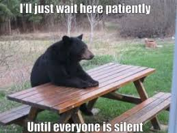 Teacher waiting for class to be quiet meme | Quotes and Memes ... via Relatably.com