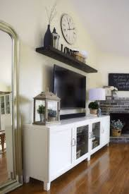 tv stand decorating