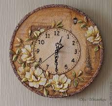 <b>Часы &quot</b>;Старая улочка&quot; розы объем | Сделаю на заказ