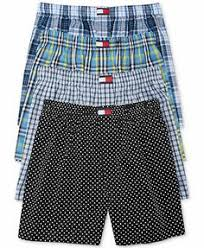 Tommy Hilfiger Men's <b>Underwear</b>, Polka Dot Woven <b>Boxer</b> 4 Pack