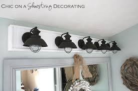DIY Bathroom Light Fixture By Chic On A Shoestring Decorating   Blogger