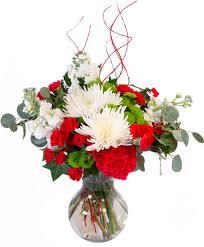 Jolly Red & White <b>Christmas Flower</b> Arrangement