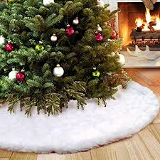 OurWarm Large <b>Faux Fur Christmas</b> Tree Skirts 48inch, Tree Skirts ...