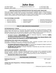 senior executive administrator for ancillary services resumefree resume templates
