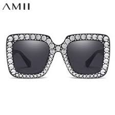 AMII Cheap <b>Imitation Diamond</b> Big Square Sunglasses <b>2018 New</b> ...