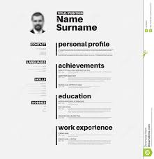 cv resume template nice typography stock vector image cv resume template nice typography
